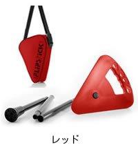 【Flipstick-フリップスティック-レッド】ワンタッチで杖にもなりコンパクトに持ち運べる一本足の折りたたみイス/椅子