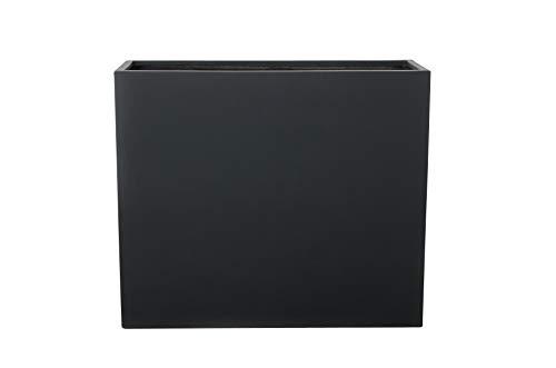 VIVANNO Pflanzkübel Raumteiler Trennelement Sichtschutz Fiberglas anthrazit Elemento - 75x30x88 cm