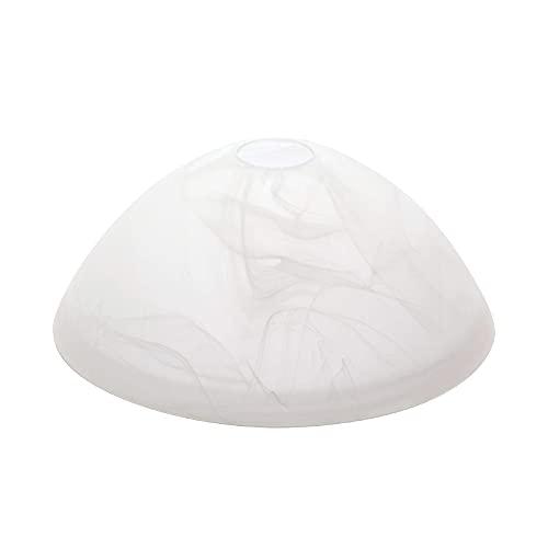 Glas Lampenschirm Ersatzglas Alabaster Ø 250mm 25cm Lochmaß 42mm Fassung E27