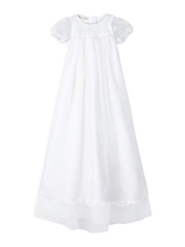 name it Baby Mädchen extra langes Taufkleid traditionell nbfDALINE (62 (80cm lang))