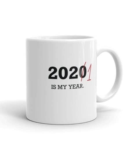 Taza de café divertida Detalles sobre 2021 is my year. Taza de año nuevo, taza de café optimista 2021 taza de 11 onzas