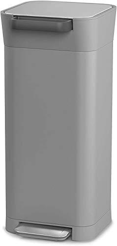 Joseph Joseph ペダル式ゴミ箱 ペブル 30L ゴミを1/3に圧縮するゴミ箱 クラッシュボックス 30034
