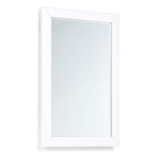 SIMPLIHOME Paige 24 inch x 34 inch Bath Vanity Décor Mirror in -