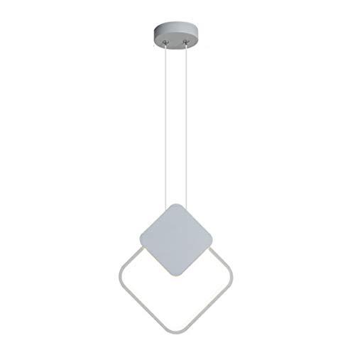ZA Pendelleuchten Modern Simple Iron Art Kronleuchter LED Nachttisch Kleine Hängelampen Schlafzimmer Wohnzimmer Esszimmer Deckenleuchte Innenbeleuchtung (Weißes Licht)