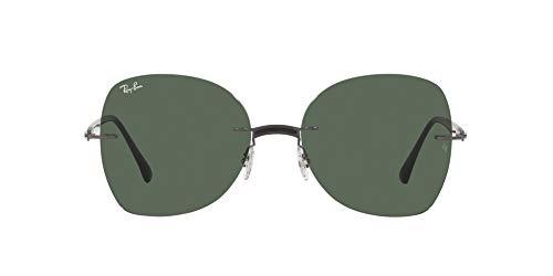 Ray-Ban 0RB8066 Gafas, BLACK ON SANDING GUNMETAL, 58 Unisex Adulto