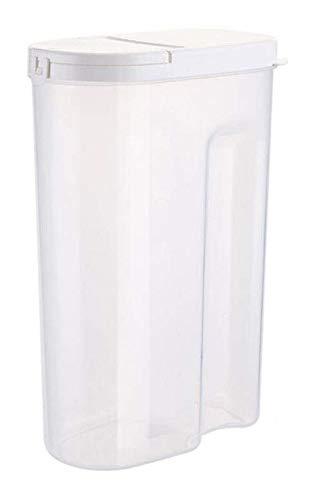 QFLY Tarros Cocina Sello de plástico de 2 Piezas Conjunto de Cereales contenedores de Alimentos Recipiente Transparente de Cocina Grano Tanque de Almacenamiento Botes Cristal Cocina