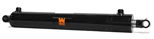 WEN WT2520 Cross Tube Hydraulic Cylinder with 2.5 Bore and 20-inch Stroke, Black