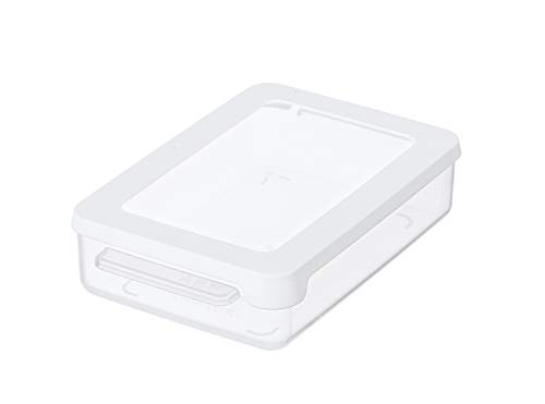 Gastromax Rechteckig Brotdose, Plastic, Transparente/Weiße, Eine Grösse