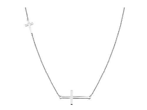 SOFIA MILANI Collar Mujer Cadena Colgante Cruz Plata de Ley 50150