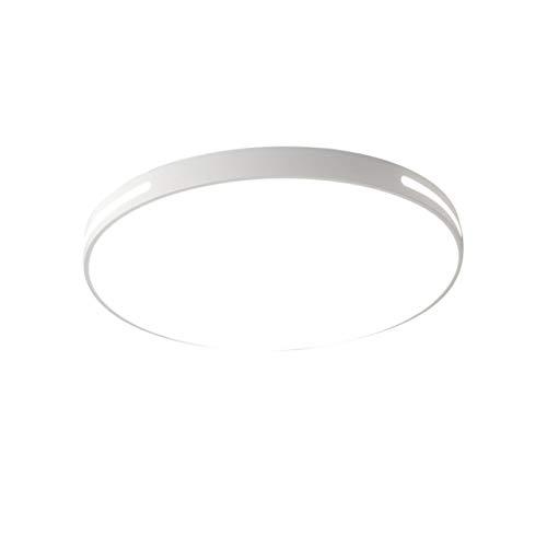 Lámpara de techo LED de 48 W, 7000 lm, color blanco natural, para interiores, empotrada, redonda, para dormitorio, baño, cocina, pasillo, oficina, escalera, comedor [clase energética A+]