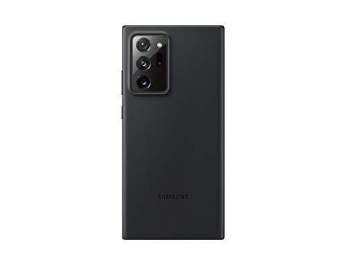 Samsung Leather Smartphone Cover EF-VN985 für Galaxy Note20 Ultra 5G Handy-Hülle, echtes Leder, Schutz Hülle, stoßfest, premium, schwarz - 6.7 Zoll