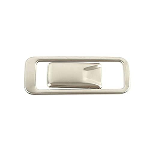 CCHAO Fit für Hyundai Creta IX25 2020 GLOVEBOX Handschuh Aufbewahrungsbox Anpassen des Schalters Taster Abdeckung Edelstahl Innenformaufkleber (Color Name : Silver)