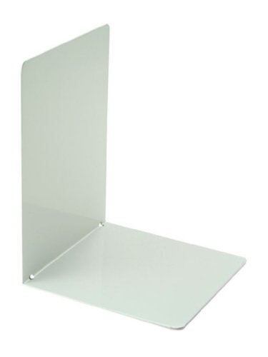 Officemate - Sujetalibros de Metal, 2 unidades, 120x120x160mm, color blanco