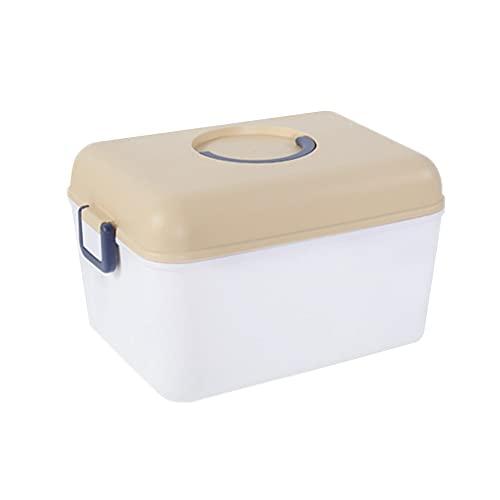 Gofeibao BotiquíN Caja Medicamentos Caja de Primeros Auxilios para el hogar Caja de Primeros Auxilios vacía Organizador de Caja de Almacenamiento de medicinas Yellow,Small