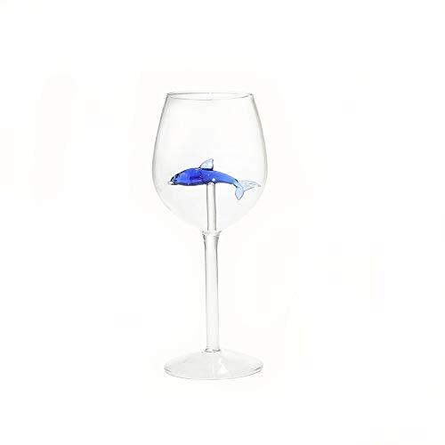 rotweinglas 300ml Serria® Home Dolphin Rotweinglas Weinflasche Crystal for Party Flutes Glass Geschenk für einen besonderen Menschen oder für den persönlichen Gebrauch.