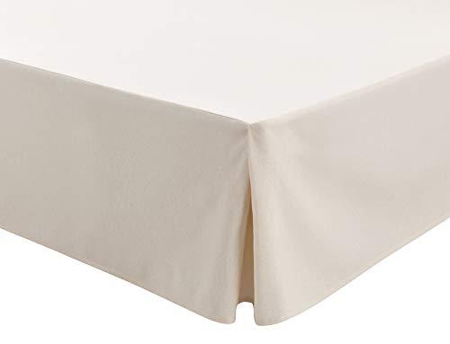 Easycosy - Cubre Canapés para Somier ATENEA Faldon para Cama 180 cm Cubrecanape - Color Crudo (180x190/200cm)