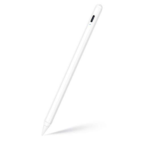KINGONE スタイラスペンiPad ペン 超高感度 極細 タッチペンiPad 傾き感知/誤作動防止/磁気吸着機能対応 軽量 USB充電式2018年以降iPad/iPad Pro/iPad air/iPad mini対応