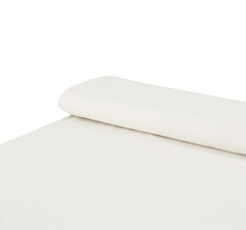 Nadeltraum Baumwoll - Jersey Stoff einfarbig Creme - Meterware ab 25 cm x 160 cm - Stoff zum Nähen