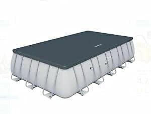 Bestway Telo di Copertura per Piscina Rettangolare 732x366x132 cm Proteggi Piscina Pulizia e Manutenzione
