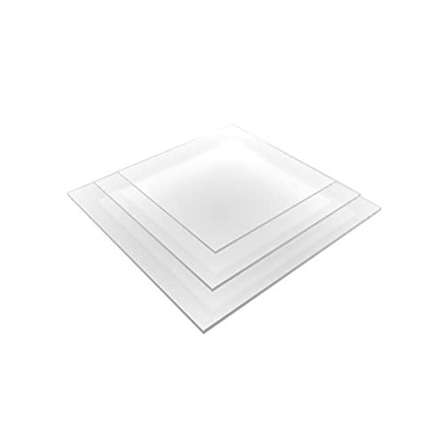 nattmann Acrylglas Zuschnitt PLEXIGLAS® Zuschnitt 10-25 mm Platte/Scheibe klar/transparent (10 mm, 250 x 250 mm)