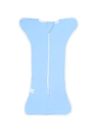 Bright Love Bébé Sac De Couchage Confort Langer Sac De Couchage Unisexe 100% Cotton 0-3 Mois Portable Blanket2 Pack,Blue