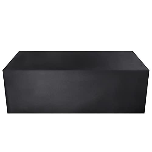 YYCHER Patio impermeabile copertura esterna mobili da giardino copre pioggia neve sedia copre per divano tavolo sedia copertura antipolvere (colore : nero, specificazione: 155X95X68cm)