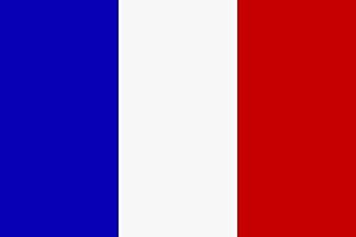 U24 Aufkleber Frankreich Flagge Fahne 8 x 5 cm Autoaufkleber Sticker