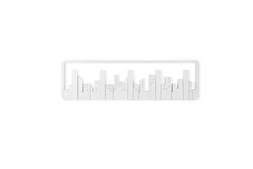 umbra 壁掛けフック ウォールハンガー 収納 フック壁掛け収納 ホワイト 5連 スカイライン マルチフック 2318190-660