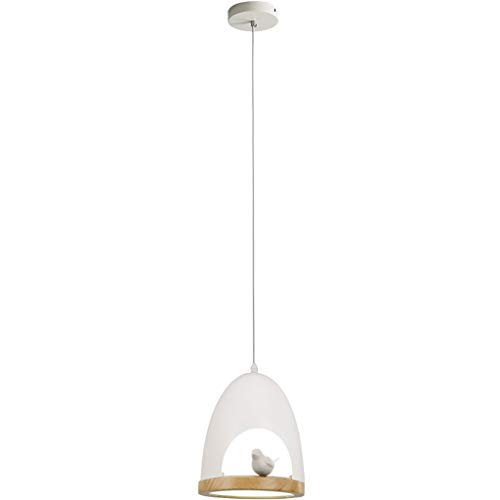 Jiji Chandeliers Nordic Bird Chandelier Single Head Simple Bird Nest Dining Table Lighting Pendant Light Living Room Bedroom Pendant Lamp Pendant Light (Color : White)