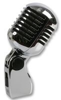 Pulse PLS00093 - Micrófono (estilo vintage, cromado), color plateado