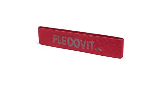 FLEXVIT Mini Fitnessband Prehab (Rot) - Fitnessbänder für allgemeine Stabilisationsübungen, Dehnung, Aktivierung und Mobilisation, 6 Stärken, für Anfänger und Profis, Waschbar