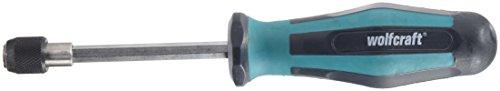 Wolfcraft 8725000 - Atornillador manual con portapuntas, largo 197 mm