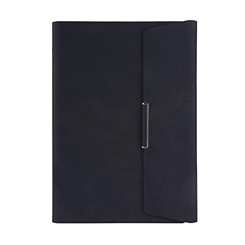 Quaderno A5 B5 Leahter Cover Notebook,Blocco note per notebook aziendali con fogli sciolti ricaricabili,Blocco note per riunioni con portapenne, carta a righe