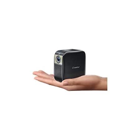 Crosstour プロジェクター 小型 DLP ミニ 静音 携帯式コンパクトプロジェクター フル HD 1080P対応 100ANSI ルーメン HDMI/Chromecast/PS4/TV Stick/TV Box/Tabletなどサポート 充電式大容量バッテリー内蔵 PSE認証正規品 S100