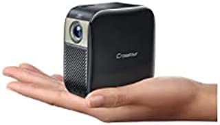 Crosstour プロジェクター 小型 DLP ミニ 静音 携帯式コンパクトプロジェクター フル HD 1080P対応 100ANSI ルーメン HDMI/Chromecast/PS4/TV Stick/TV Box/Tabletなどサポート...