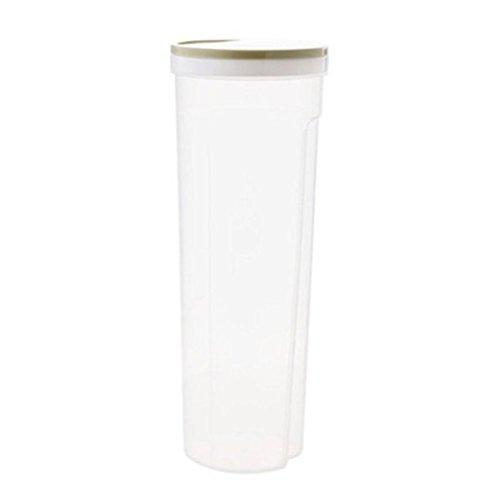 Yilin Tarro de plástico transparente, contenedor hermético de almacenamiento de alimentos para...