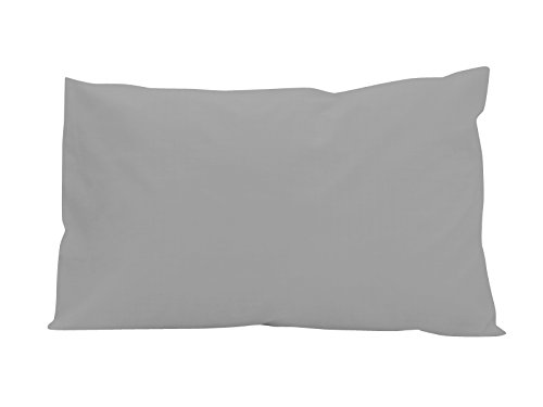 Amerikanischer Kissenbezug 50x75 cm Baumwolle uni grau SOLEIL D'OCRE