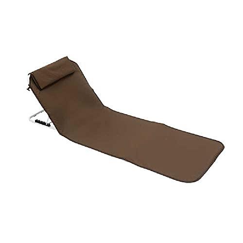 N\C Silla plegable portátil al aire libre sentado y reclinable de doble propósito, silla de pesca trasera, reclinable de camping al aire libre, silla de descanso de almuerzo, silla de playa café