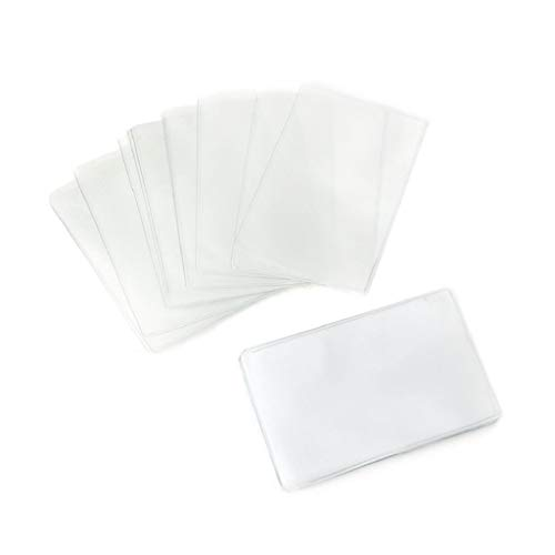 Sqiuxia - Fundas de plástico para Tarjetas de crédito (20 Unidades, rectangulares), Transparente