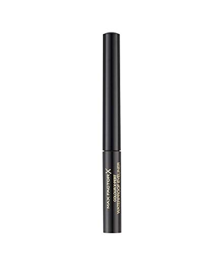 Max Factor Colour X-Pert Waterproof Eyeliner Deep Black 01 – Flüssig Eyeliner Schwarz – Für das perfekte Cat Eye – 1 x 2 ml