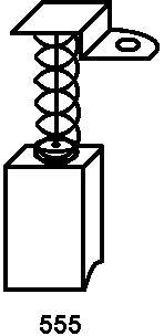 Asein Kohlebürsten 0664 für Flex Schleifer WS 702 VEA, Flex Schleifer WS702VEA - 6,3x6,3x10,6mm - 0,25x0,25x0,42'' - Mit Federn, Kabel und Stecker - Ersatz für Originalteile 869734