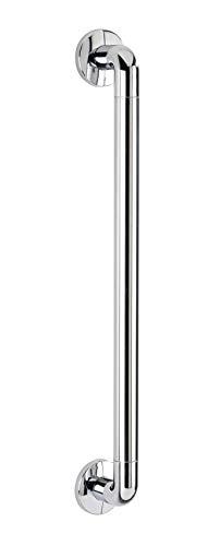 WENKO Wandhaltegriff Secura Chrom 64,5 cm - Bad-Sicherheitsgriff für Badewanne oder WC, Aluminium, 64.5 x 7 x 8 cm, Chrom