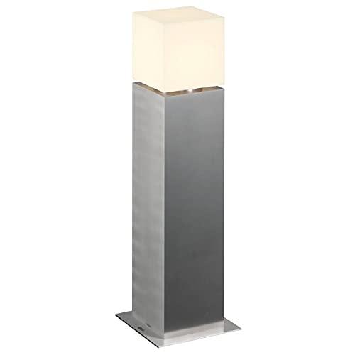 SLV LED Außen-Leuchte SQUARE POLE 60 | Design Außen-Standleuchte, stilvolle Außenbeleuchtung dimmbar | Outdoor LED Wegeleuchte, Pollerleuchte, Weg-Beleuchtung, Garten-Lampe | E27, max. 20W