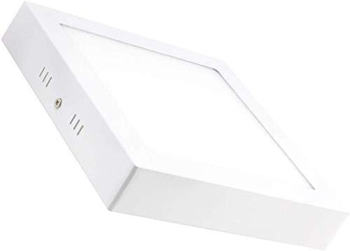 Plafon de Techo LED 25W 2500lm Blanco Frío 6000k-6500k Cuadrado Superficie Panel LED Iluminacion Para Sala de Estar,Comedor,Dormitorio,Oficina,Tienda Comecial ONSSI LED