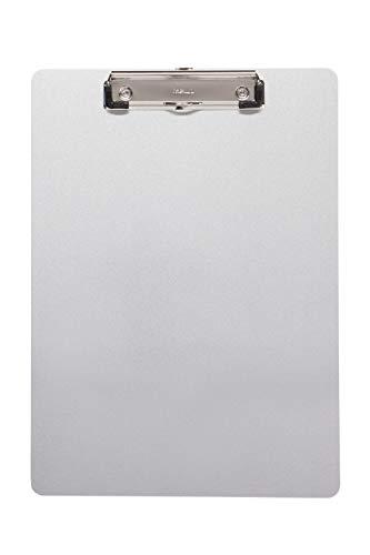 Maul Schreibplatte, Klemmbrett, DIN A4 hoch, Eloxiertes Aluminium, 8 mm Klemmweite, 1 mm Plattenstärke
