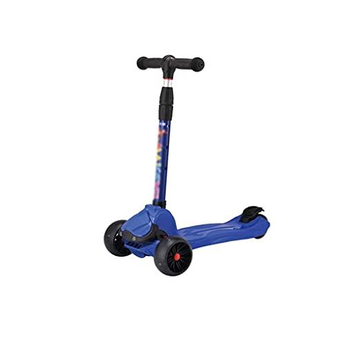 QIXIAOCYB Scooters de Kick for Kids 2-12 años - Scooter plegable 3 LED LIGHT RUEDAS DE LUZ DE LA RUEDA APANCTE FRENO AMPLIO PAJA PERMANENTE Y ALTURA AJUSTABLE - 110 LBS CAUCTURA D (Color : C)