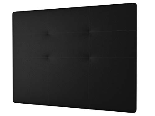 LA WEB DEL COLCHON - Cabecero tapizado Andrea para Cama de 200 (210 x 120 cms) Negro