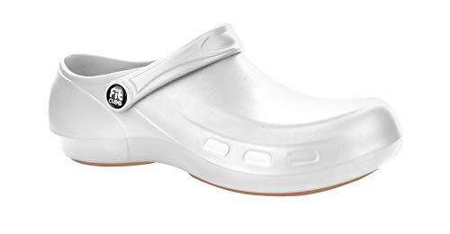 FitClog – Power 003 - Spezialist Schuhe Zertifiziert - für jeden Tag Lange Stunden Arbeit.(Weiß) (39 EU, Weiß)