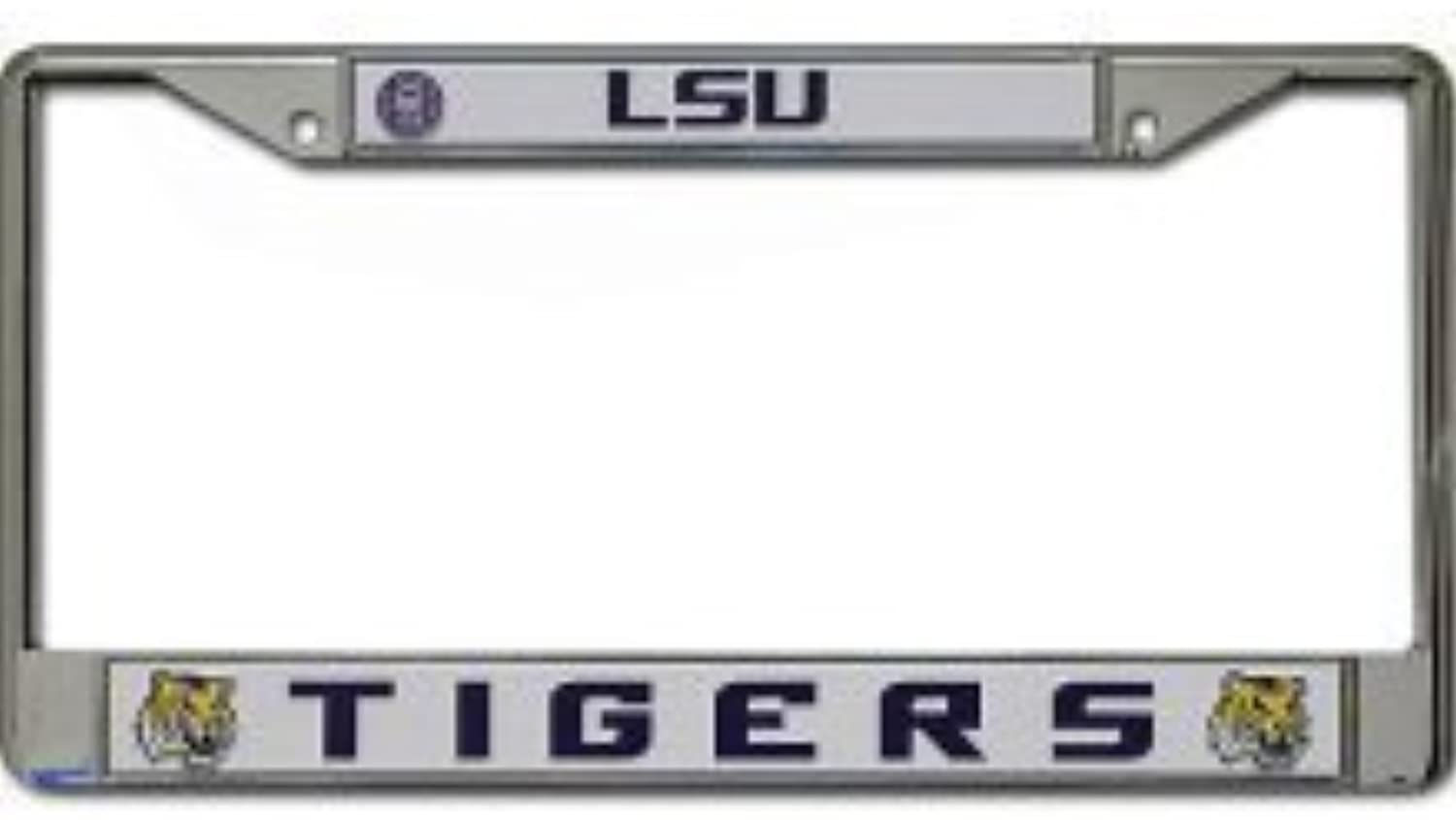 LSU Tigers Metal Chrom License Plate Tag Frame by Team Spirit