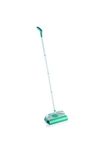 Leifheit Kehrer Regulus Supra, Teppichkehrer für die schnelle Reinigung von Teppich, Laminat und Fliesen, Kehrbesen ohne Akku und Strom, mechanische Bodenreinigung, Bodenkehrer ohne Beutel